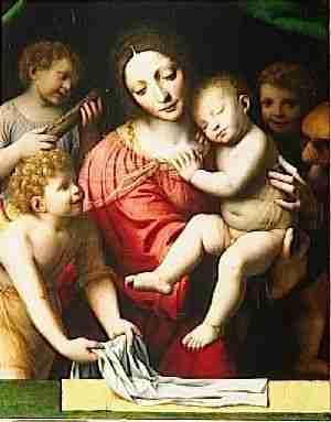 le sommeil de l'enfant Jésus de Giovanni Batista Salvi, «  El Sassoferato » (1605-1689)